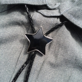 The Good Swede Bolo Tie Black Star