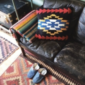 Pendleton Black Midnight Eyes Pillow