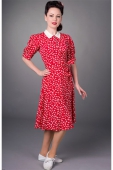 the Seamstress of Bloomsbury Lucy dress red clover