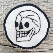 Handmade Skull Patch