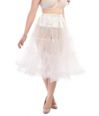 Collectif clothing Maddy petticoat white
