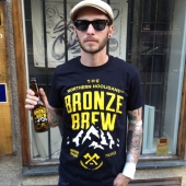 The Northern Hooligans Bronze Brew Tee