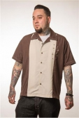 Steady Well noted button up brown