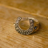 SWS Horse shoe zirconia ring