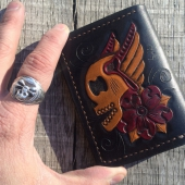 Loser Wallets Skull with Wings Wallet