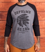 DePalma Nothing Man raglan dark grey