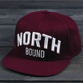 Northern Hooligan North Bound Maroon Snapback Cap