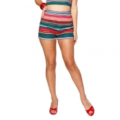 Bettie Page Honey Hot Short Serape Stripe