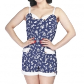 Collectif Futura Sea Shell Playsuit Navy