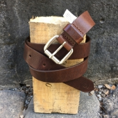 Lee Slim Roller Buckle Belt Dark Brown