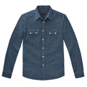Lee 101 Rider Shirt Speckled Rinse