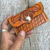 Loser Wallets Tooled Leather Card Holder