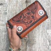 Loser Wallets Tooled Leather Clutch