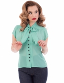 Steady Harlow chiffon tie top mint