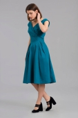 Emily and Fin Florence dress teal cotton satin