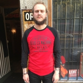 Deus Garage Raglan Red/Black