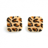 Collectif Leopard Flock Studs