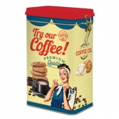 Try our coffee tin