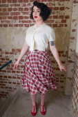 The Seamstress of Bloomsbury Isabelle skirt tartan