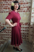 The Seamstress of Bloomsbury Mae dress wine