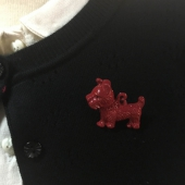 The Seamstress of Bloomsbury Dog Brooch