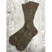 Sock Olive/Brown Melange