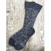 Sock Navy/White Melange
