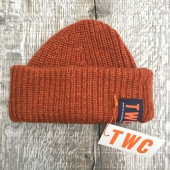 The Workers Club Burnt Orange Tuck Rib Beanie