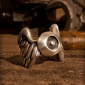 Rumble59 Stainless Steel Ring Flying Eyeball