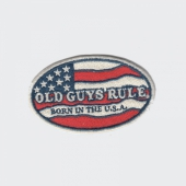 Old Guys Rule Born in the USA tygmärke