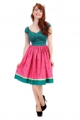 Collectif Jasmine watermelon swing skirt