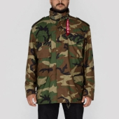 Alpha Industries Inc. M-65 Field Jacket Woodland Camo