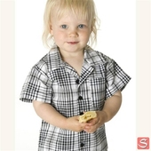 Baby checked shirt black