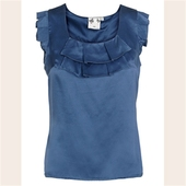 Edith & Ella True blue top