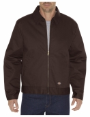 Dickies Eisenhower Jacket Dark Brown fodrad