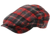Wig�ns Red/Grey plaid cap