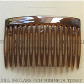 Brown hair comb