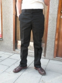 Big Bill 1948 Black Work Chino Plain Front