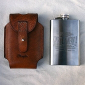 Wrangler Whiskey Flask Cognac, 4oz