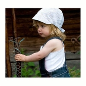 CTH Bella Jr. Dots Blue kids hat