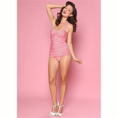 Esther Williams Classic sheath gingham red/white