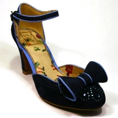 Miss L Fire Gabriella dark blue shoe