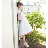 Jumperfabriken Alberta White Eyelet Dress