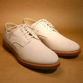 Derby White Buck Suede