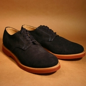 Derby Navy Buck Suede
