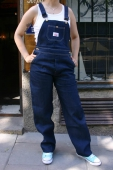 Round House Lot 9 Blue Denim Bib Overalls