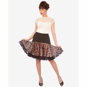 Steady Clothing Leopard ruffle petticoat