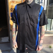 Dickies S/S Two tone Black/Royal Blue