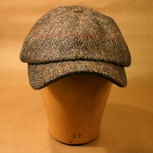 Sigvard Harris Tweed dark grey cap