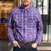 Lee Western Shirt Blue Flash